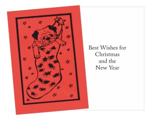 Pug in Stocking Christmas Card!