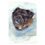 Elly Nillsson Pug Card
