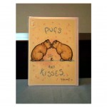 Pugs & Kisses Card by Minter Kemp