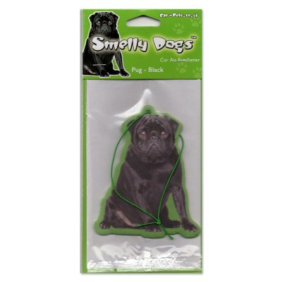 Smelly Pugs Air Freshener Black