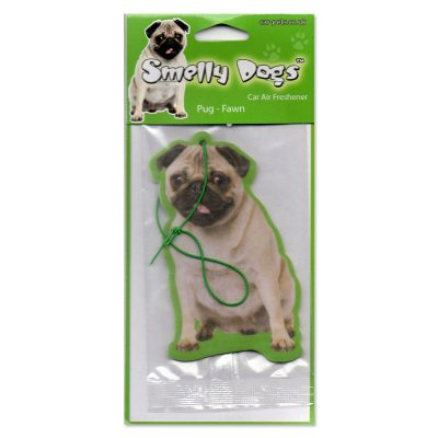 Car-Pets Smelly Pugs Air Freshener Fawn